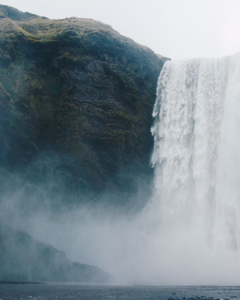 Mighty waterfall with lots of mist